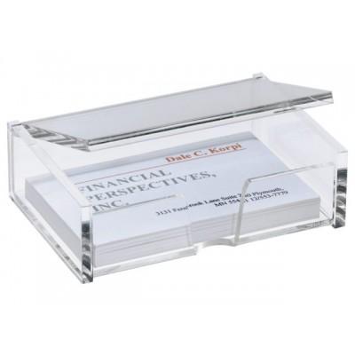 VISITEKAARTBOX SIGEL 90X55MM GLASHELDER