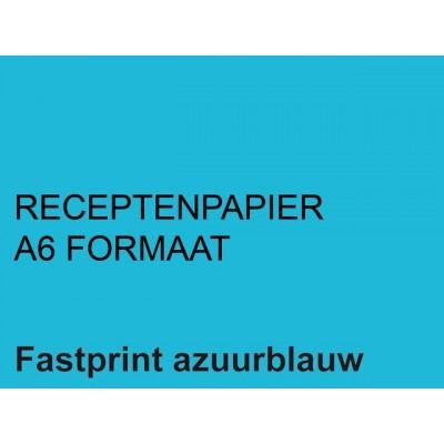 RECEPTPAPIER FASTPRINT A6 80GR LICHTBLAUW