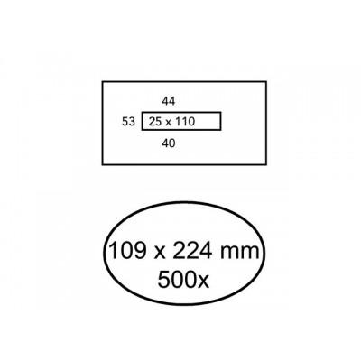 ENVELOP QUANTORE BANKGIRO 109X224 VM 80GR WIT