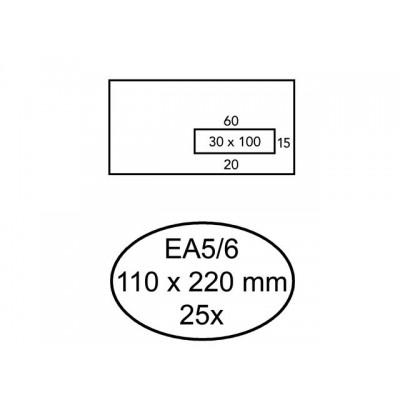 ENVELOP QUANTORE VENSTER VR EA5/6 110X220 80GR ZK
