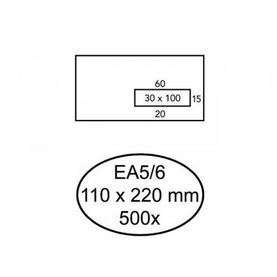 ENVELOP QUANTORE VENSTER EA5/6 VR30 80GR WIT