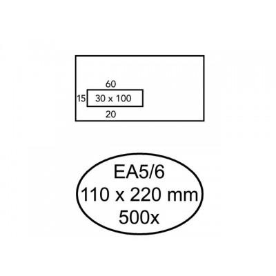 ENVELOP QUANTORE VENSTER EA5/6 VL30 80GR WIT