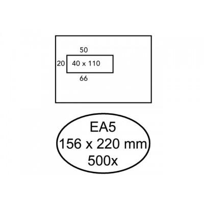 ENVELOP HERMES VENSTER EA5 VL 4X11 80GR 500ST WIT