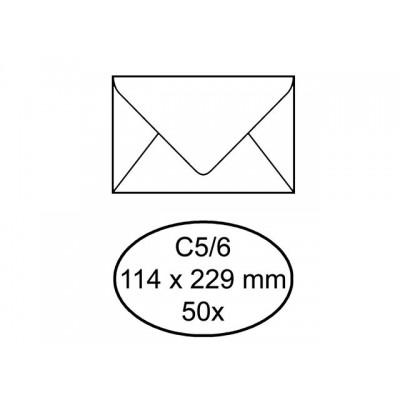 ENVELOP QUANTORE BANK C5/6 114X229 80GR ZK WIT