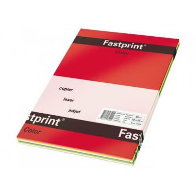 KOPIEERPAPIER FASTPRINT A4 80GR 5 KLEUR FEL X 50V