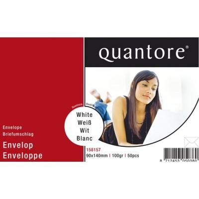 ENVELOP QUANTORE VISITEKRT 90X140 95GR WIT