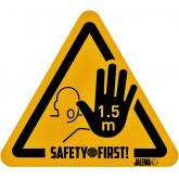 WAARSCHUWINGSSTICKER JALEMA HAND HOUD AFSTAND GL/ZW