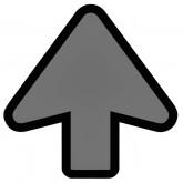 VLOERSTICKER OPUS 2 PIJL LICHT GRIJS/ZWART