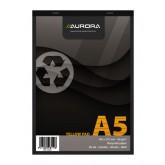 SCHRIJFBLOK AURORA A5 LIJN 80VEL 80GR GEEL