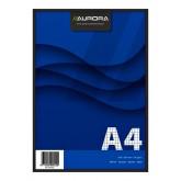 SCHRIJFBLOK AURORA A5 LIJN 160BLZ 80GR GEEL