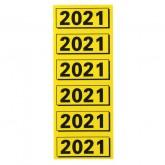 RUGETIKET ELBA 2021 GEEL MET ZWARTE OPDRUK