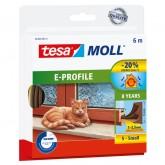 TOCHTSTRIP TESA MOLL 05463 E PROFIEL 9MMX6M BRUIN