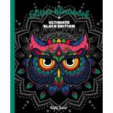 KLEURBOEK INTERSTAT GLITTER BLACK EDITION - NIGHT FLOWERS