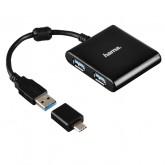 HUB HAMA USB-C 3.1 4 POORT USB-A ZWART