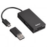 KAARTLEZER HAMA USB MICRO + USB-A ZWART