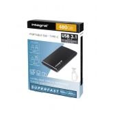 HARDDISK INTEGRAL SSD EXTERN PORTABLE USB C + USB 3.1 480GB
