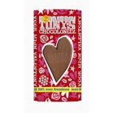 TONY'S CHOCOLONELY VALENTONY MELK MET ROOS FRAMBOOS