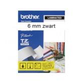 LABELTAPE BROTHER TZE-211 6MMX8M WIT/ZWART