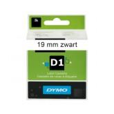 LABELTAPE DYMO 45803 19MMX7M D1 WIT/ZWART