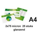 LAMINEERHOES GBC A4 2X75MICRON GLANS