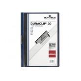 KLEMMAP DURABLE 2200 A4 PL/TR 3MM NACHTBLAUW