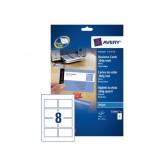 VISITEKAART AVERY C32015-25 85X54MM 200ST MAT
