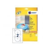 ETIKET AVERY CD L6043-25 50ST