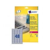 ETIKET AVERY L6009-20 45.7X21.2MM 960ST ZILVER