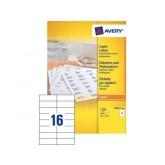 ETIKET AVERY DP167-100 105X37MM 1600ST