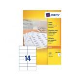 ETIKET AVERY DP144-100 105X42MM 1400ST