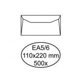 ENVELOP HERMES BANK EA5/6 110X220 80GR 500ST WIT