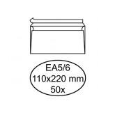 ENVELOP HERMES BANK EA5/6 110X220 80GR ZK WIT