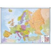 LANDKAART LEGA EUROPA 102X141CM BESCHRIJFB/MAGN