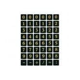 ETIKET HERMA 4131 GETAL 13X13MM 0-9 ZWART GOUD