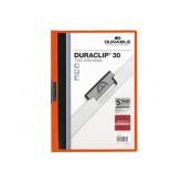 KLEMMAP DURABLE 2200 A4 PL/TR 3MM ORANJE